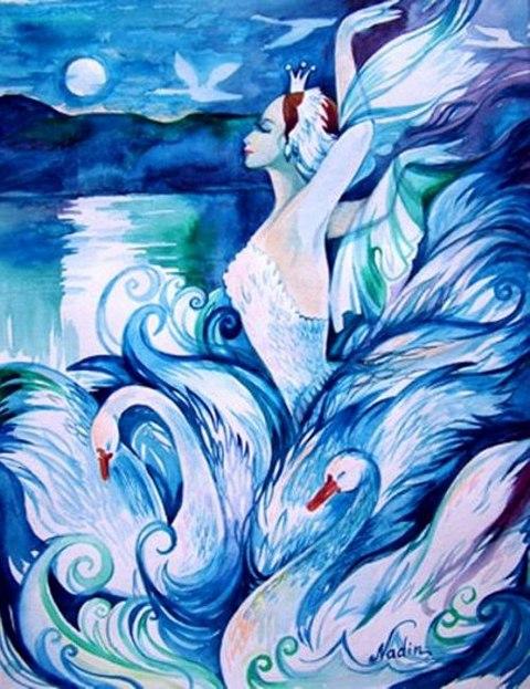 Рисунки к лебединому озеру